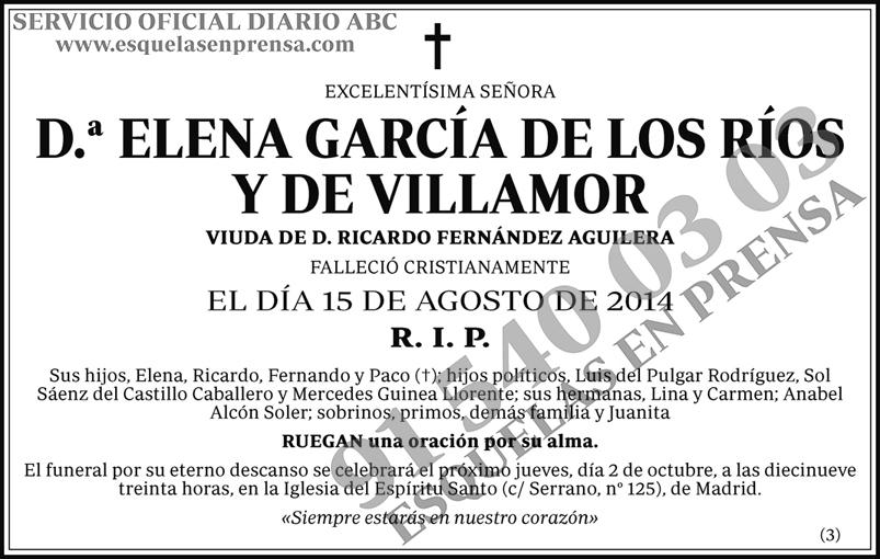 Elena García de los Ríos y de Villamor
